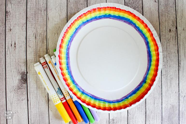 Rainbow pencil toppers are a fun and cheap kids craft!
