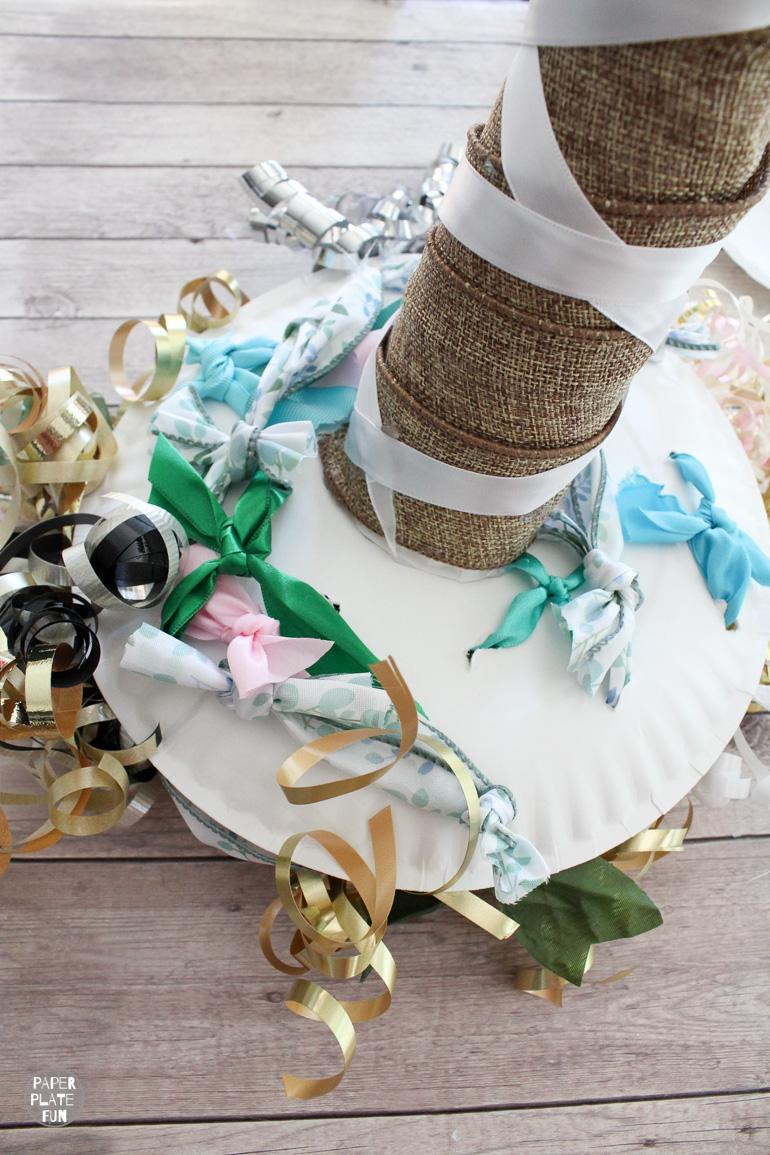 Learn how to make a bow bouquet for the bride's wedding rehearsal. It's easy!