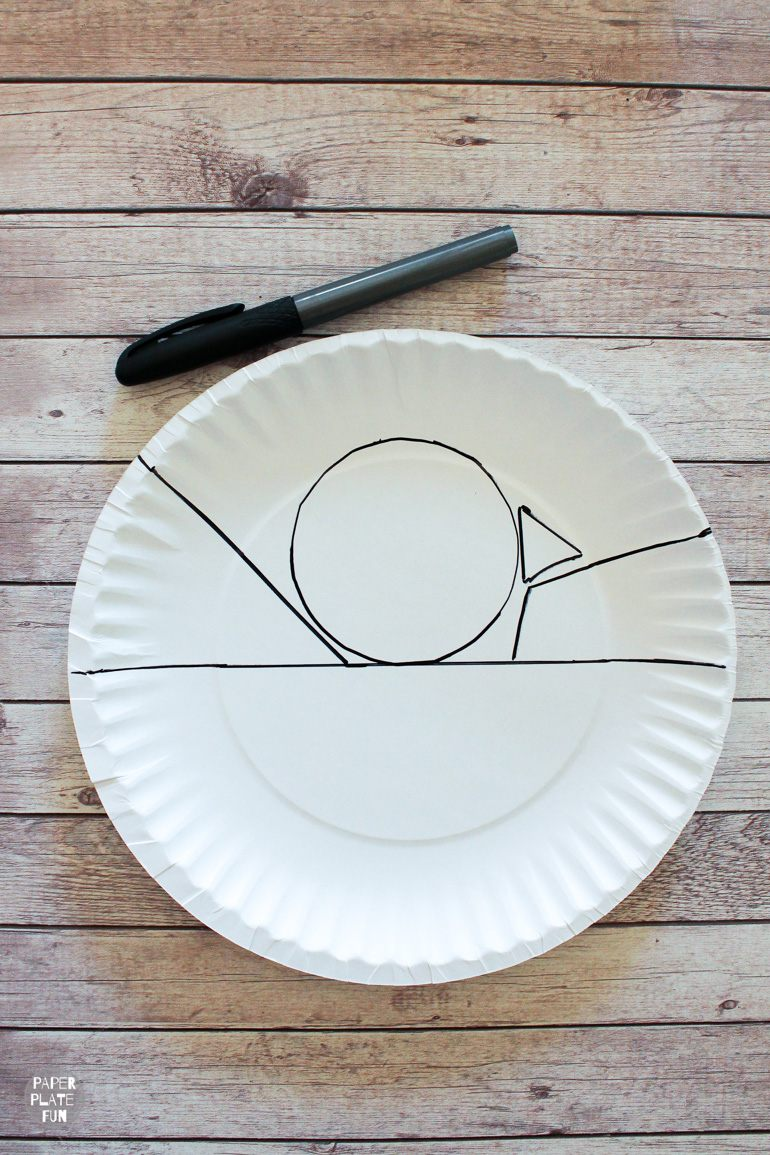 This is a cute paper plate craft for kids.