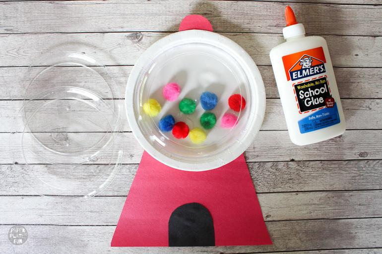 This is such a cute kids craft project! Learn how to make a paper plate gumball machine in this post.