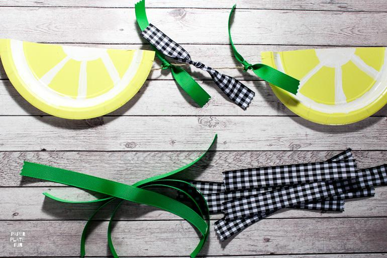 Learn how to make a lemon slice bunting in this post!