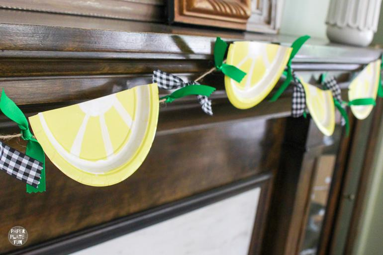 Learn how to make a lemon slice bunting banner in this blog post.