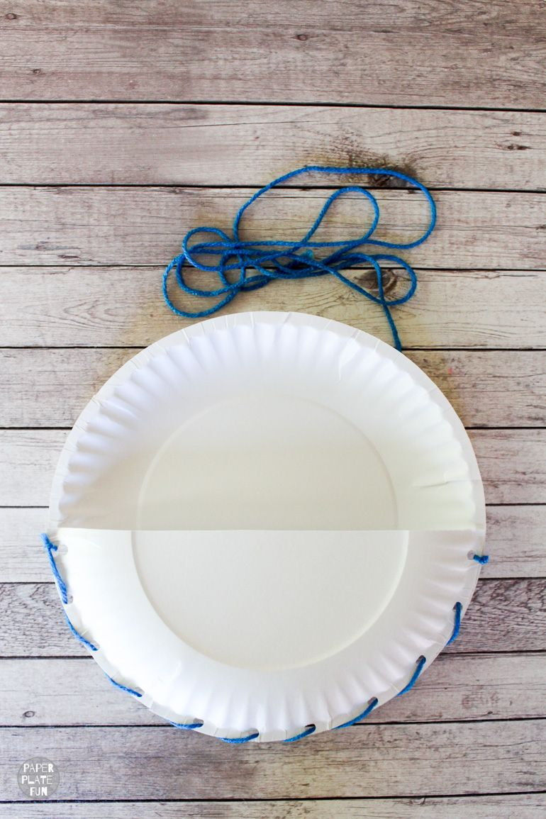 This post teaches you how to make a DIY seat sack chair pouch with paper plates!