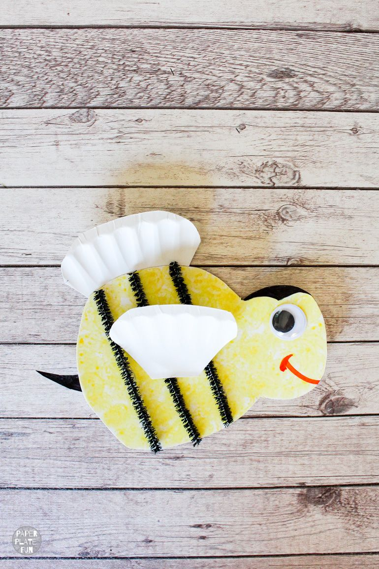 Kids will buzz with excitement when they make this paper plate bee craft! Get the bee craft template in the post and see how to create this cute pollinator!