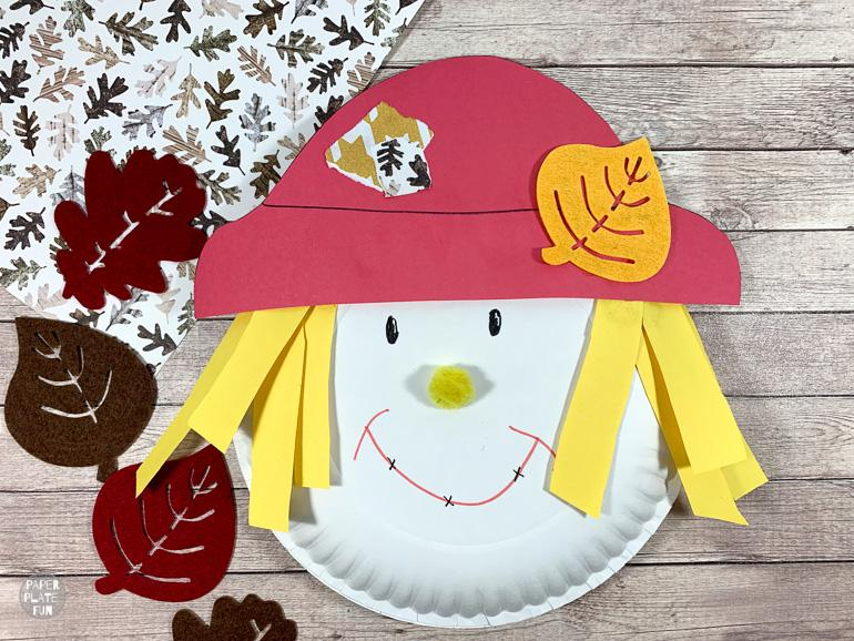 This paper plate scarecrow craft from Paper Plate Fun is one of fifteen fall paper plate crafts for kids shared in this great blog post!