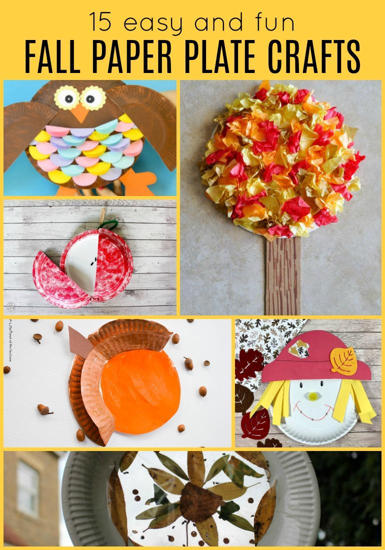 So much fun in one post! Check out fifteen easy and fun fall paper plate crafts for kids. These easy fall craft project are sure to be a hit with children!