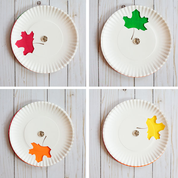 This changing leaf paper plate craft from No Toy Gifts is one of fifteen fall paper plate crafts for kids shared in this great blog post!