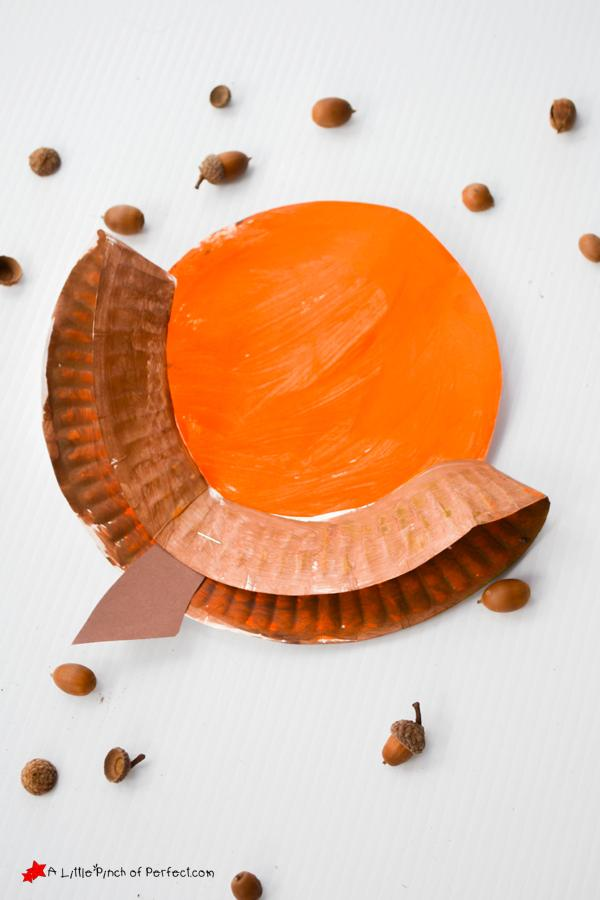 This paper plate acorn craft from A Little Pinch of Perfect is one of fifteen fall paper plate crafts for kids shared in this great blog post!